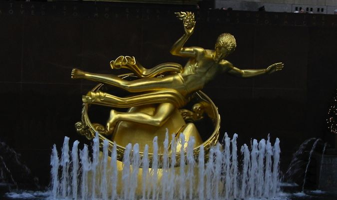 Rockefeller Center's statue is an icon of NYC