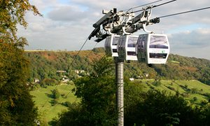 The new cable cars at the Heights of Abraham