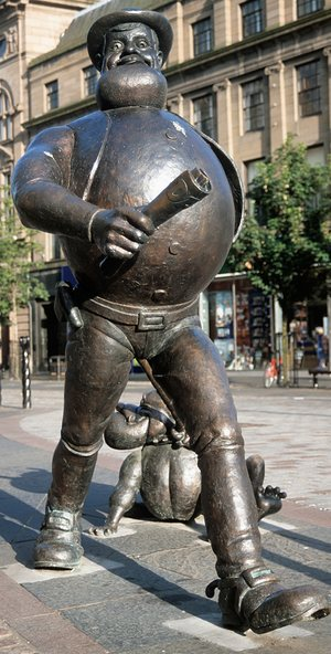 Wild at heart: the famous statue of Desperate Dan.