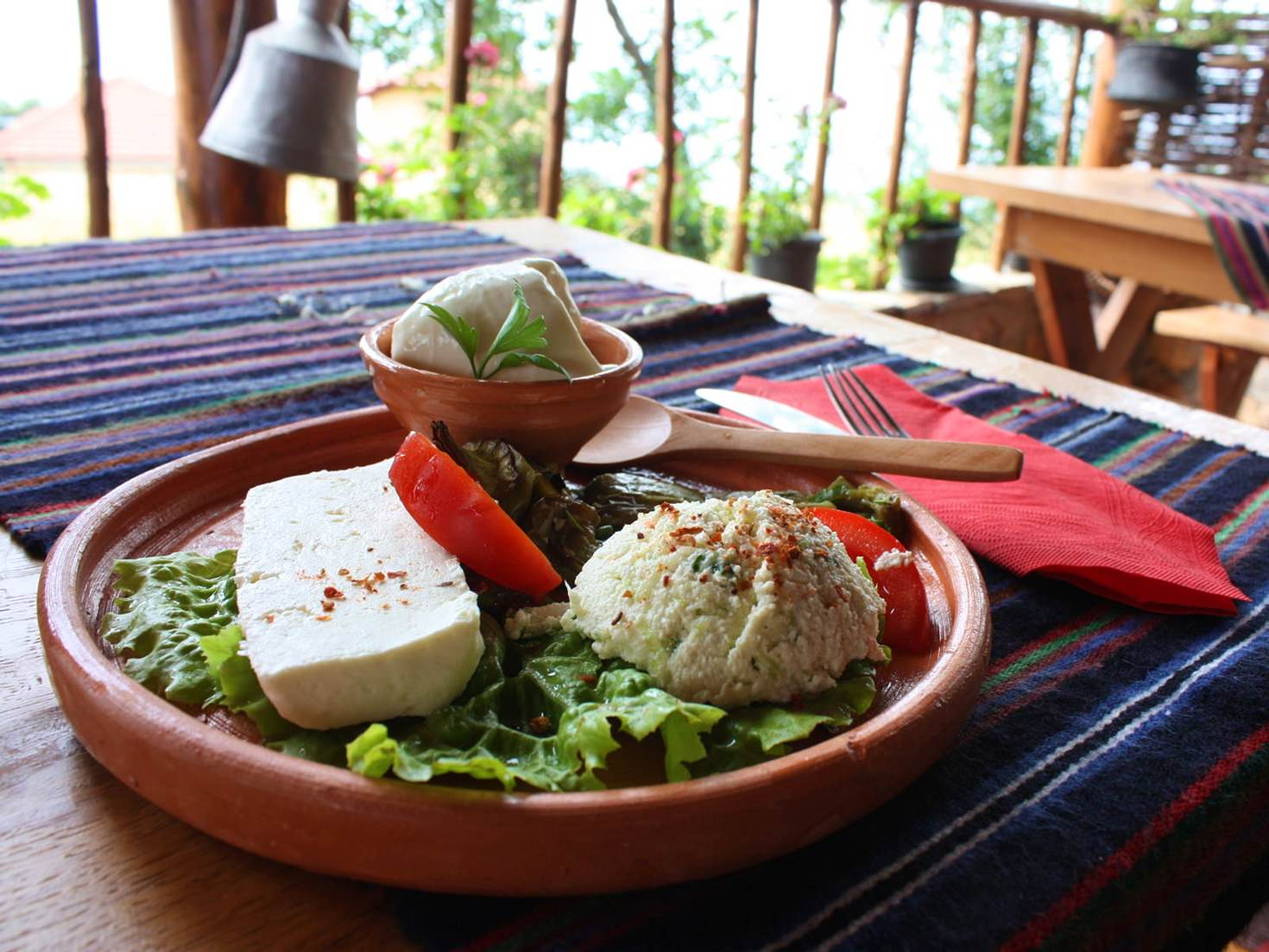 Cheese lunch in Galičica national park © Lorna Parkes / Lonely Planet