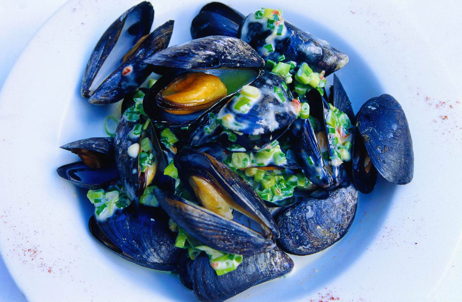 Creative cuisine at Kirwan's Lane Restaurant: Irish mussels with lemongrass, coriander and fresh chives