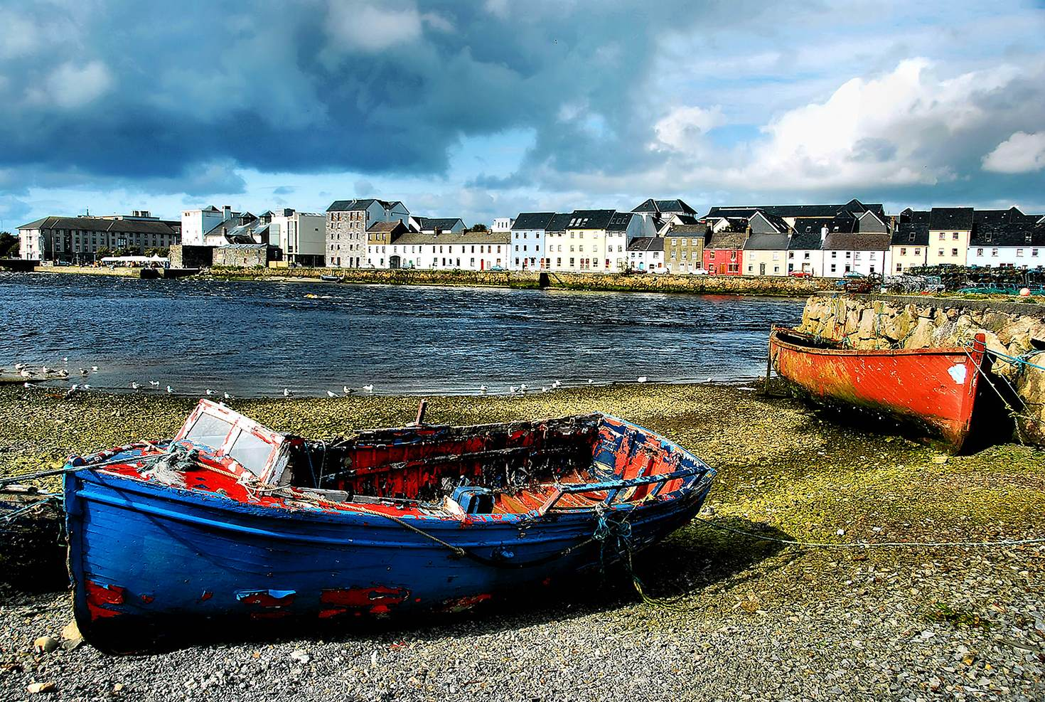 Fishing boats at the Claddagh Basin in Galway