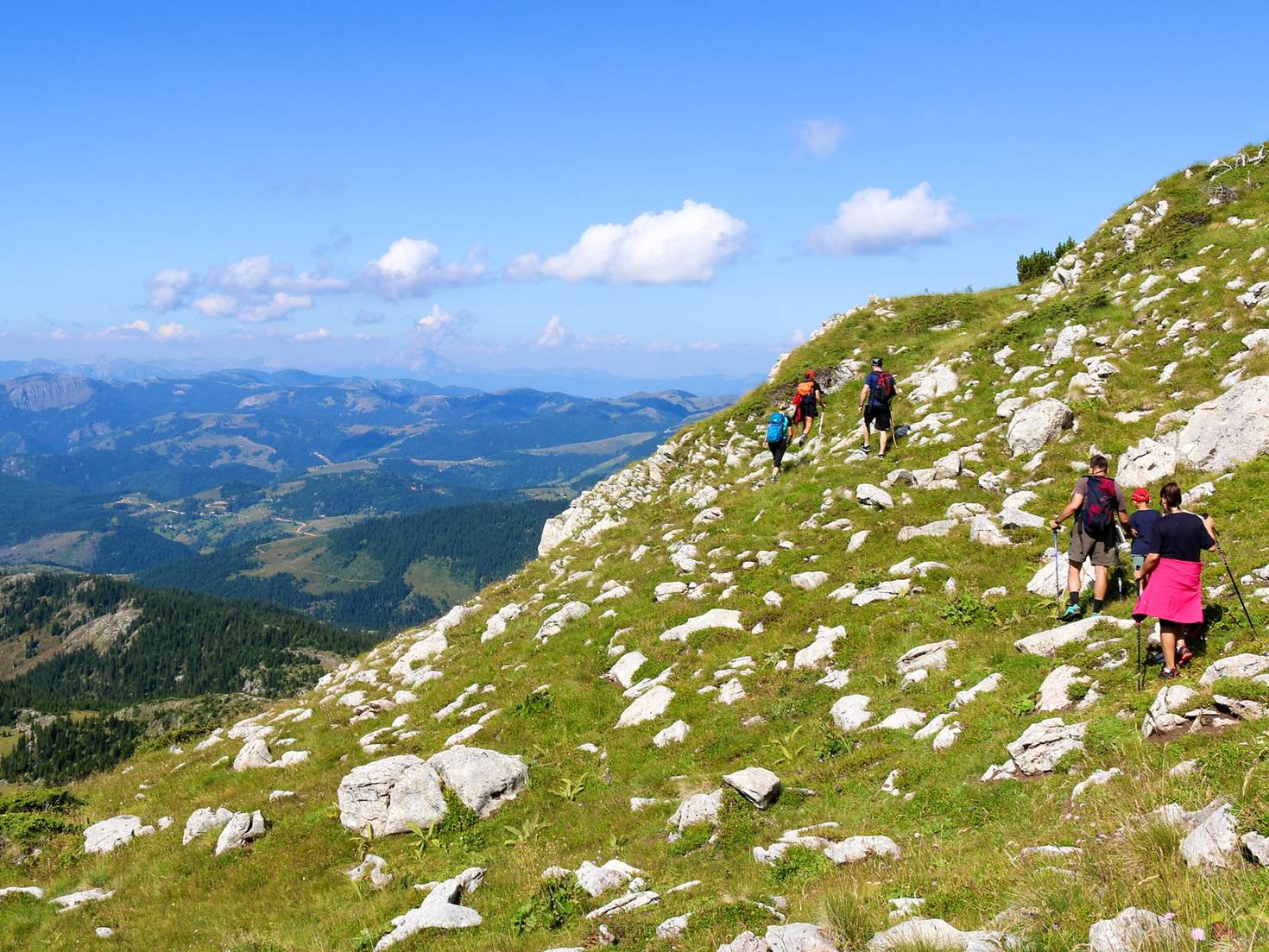 Hiking in the mountains of western Kosovo © Bridget Nurre Jennions / Lonely Planet