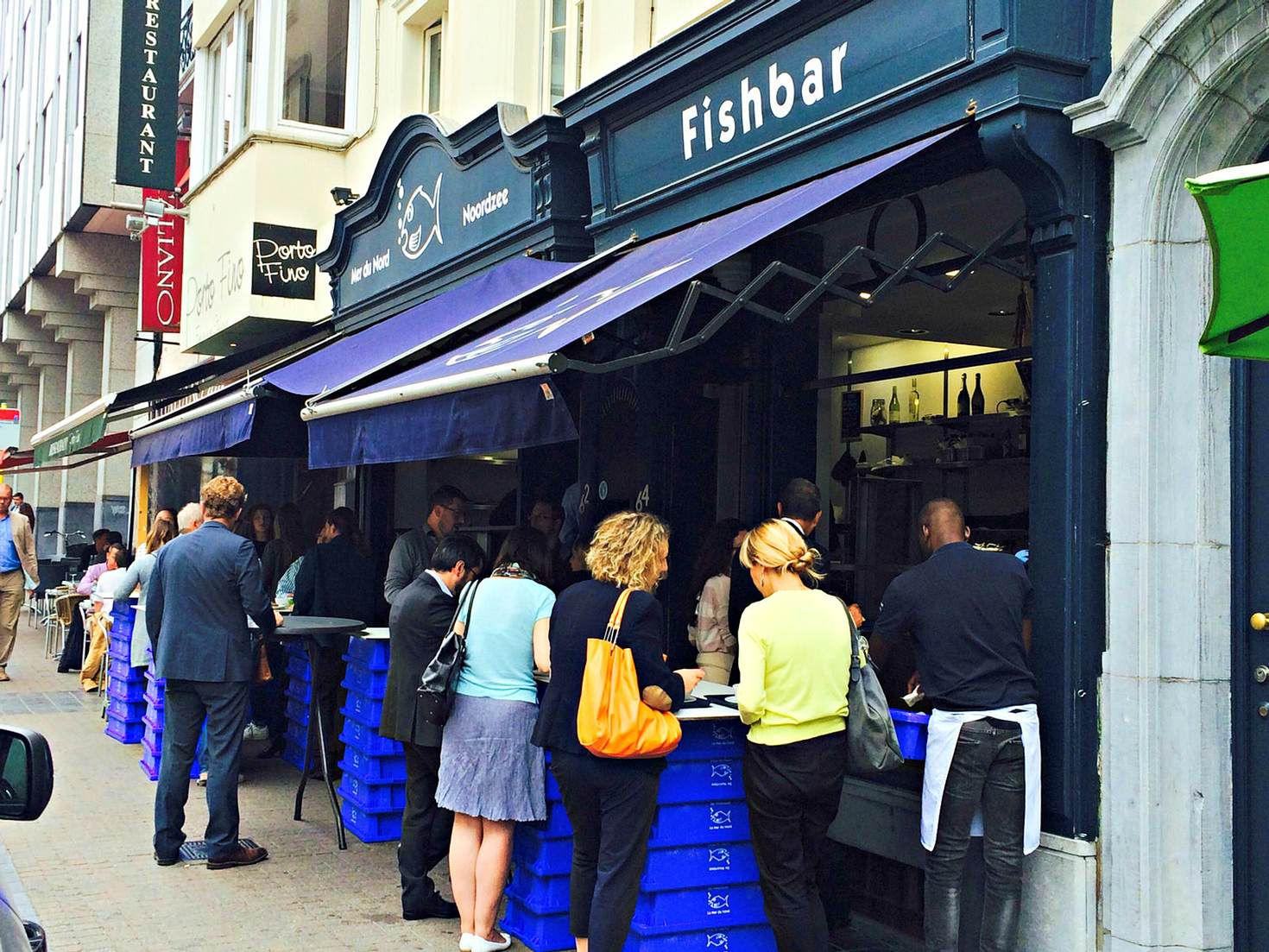 La Mer du Nord is the place to go in Brussels for croquettes © Charlotte McDonald-Gibson/Lonely Planet