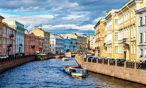 The Moyka River embankment in St Petersburg