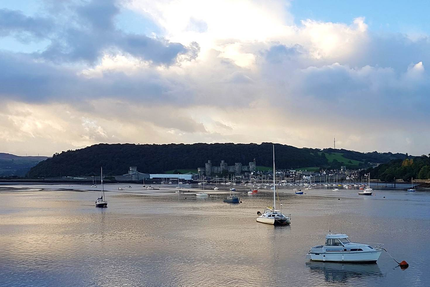 Conwy, with its distinctive castle, seen from the Quay hotel in Deganwy © James Smart / Lonely Planet