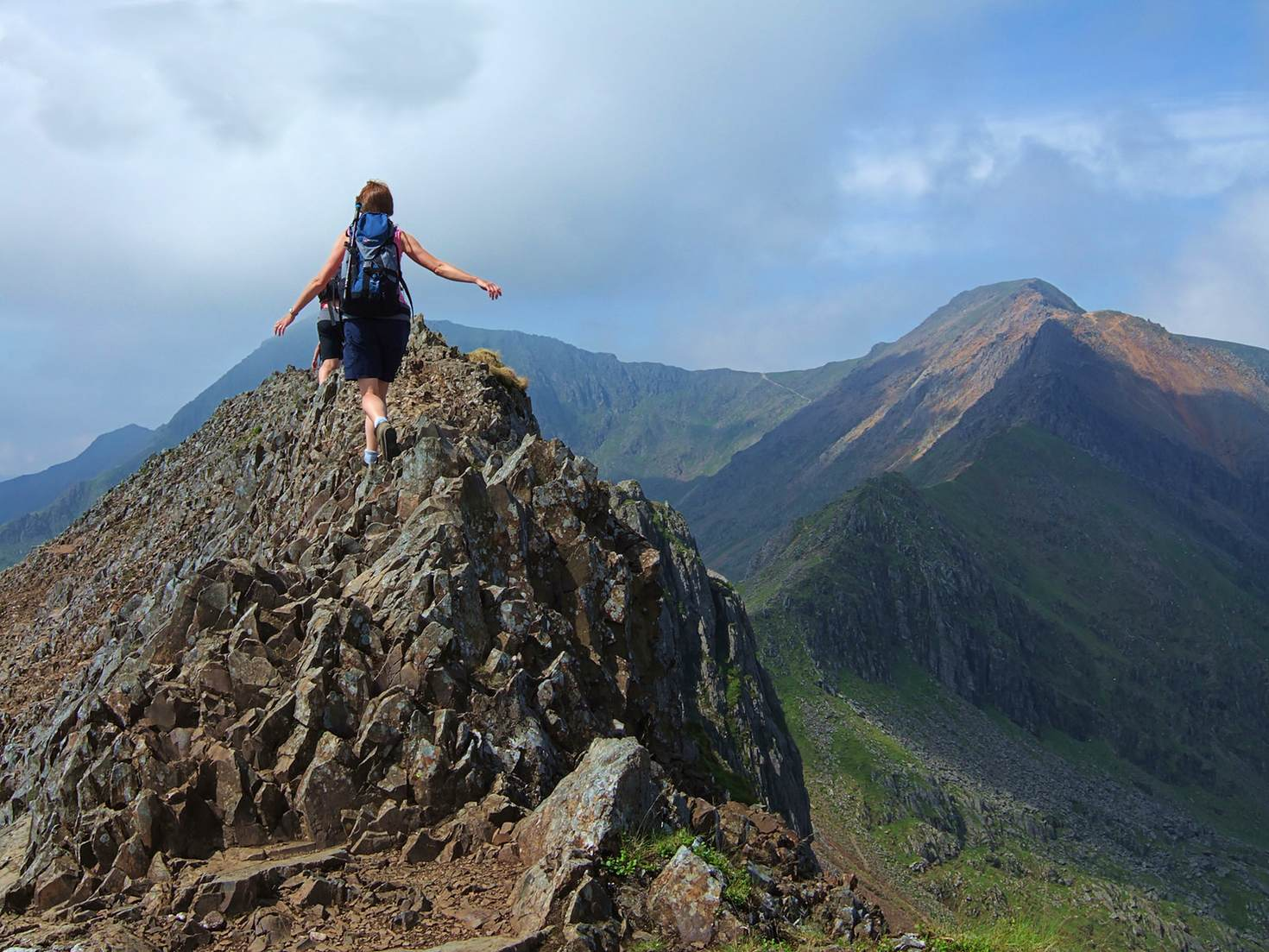 Traversing Crib Goch, one of the more challenging routes up Snowdon © Kevin Eaves / Shutterstock