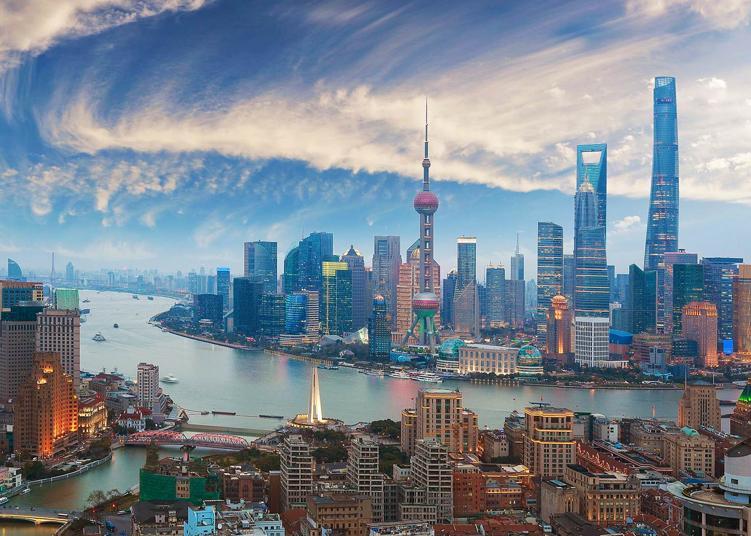 Get a bird's eye view of the new Shanghai skyline © 123ArtistImages / Getty Images