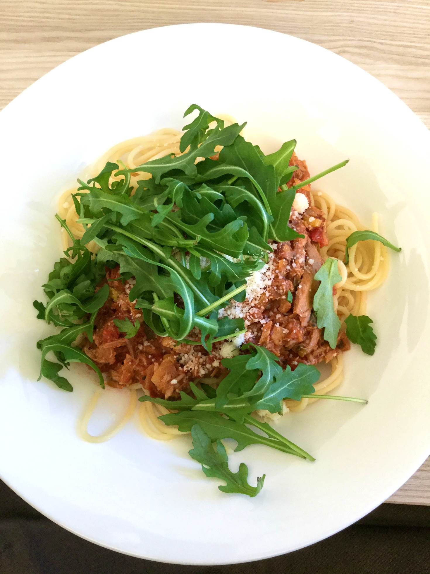 A bowl of tuna Bolognese at Der WOLF © Daniel Fahey / Lonely Planet