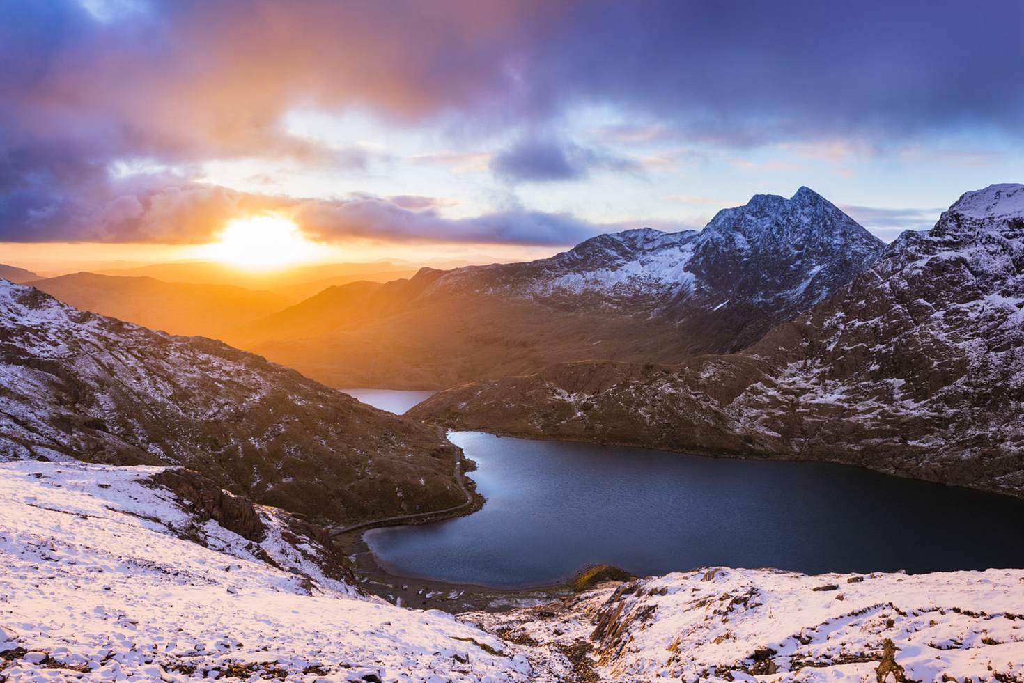 The mountain of Y Lliwedd at sunrise – a training spot for George Mallory and the 1953 British Mount Everest expedition © Justin Foulkes / Lonely Planet